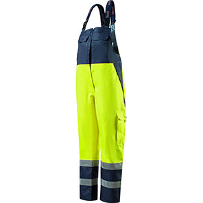 Roots Stormbuster Classic Yellow/Navy Flame-Retardant Bib and Brace Overalls