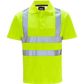 Arco Yellow Polycotton Hi-Vis Polo Shirt