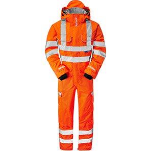 PULSAR PR505 Orange Waterproof Hi-Vis Overalls
