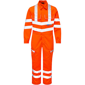 PULSAR PR339 Orange Hi-Vis Overalls