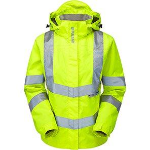 PULSAR P704 Women's Yellow Waterproof Hi-Vis Coat