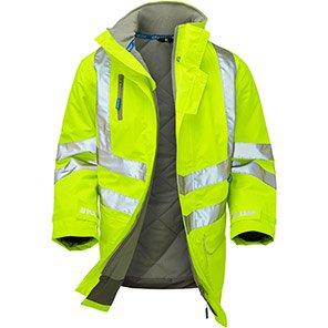 PULSAR P187 Yellow Waterproof Hi-Vis Coat