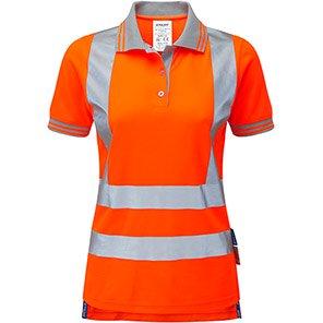 PULSAR PR701 Women's Orange Hi-Vis Polo Shirt