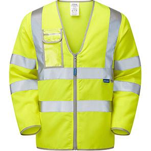 PULSAR P201 Yellow Long-Sleeve Hi-Vis Vest