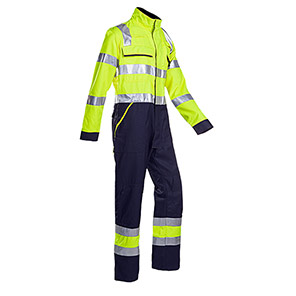 Sioen Fareins Yellow/Navy Electric-Arc Hi-Vis Overalls