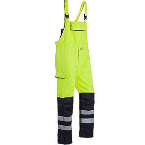 Sioen Pedley Yellow/Navy Hi-Vis Electric-Arc Bib and Brace Overalls