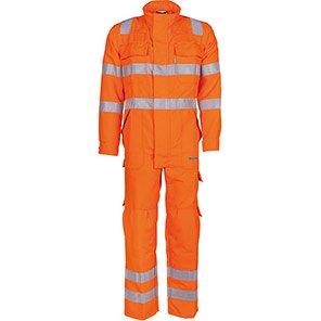 Sioen Warwick Orange Hi-Vis Electric-Arc Overalls