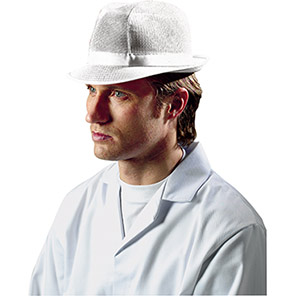 White Mesh Trilby Hat