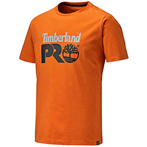 Timberland Pro Cotton Core T-Shirt Primary Base Colour Orange Secondary Base Colour N/A