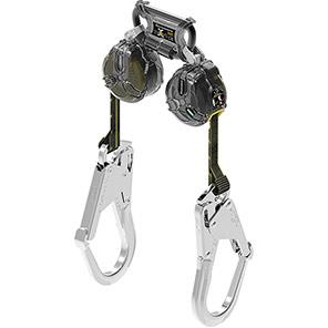 MSA V-TEC 1.8m Mini Twin Fall Arrester Block with Scaffold Hooks
