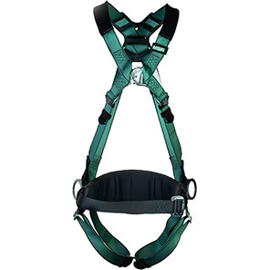 MSA V-FORM Work-Positioning Safety Harness with Qwik-Fit Buckles