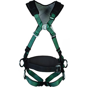 MSA V-FORM+ Padded Work-Positioning Safety Harness with Bayonet Buckles
