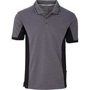 Trojan Two-tone Wicking Polo Shirt Primary Base Colour Grey Secondary Base Colour Black