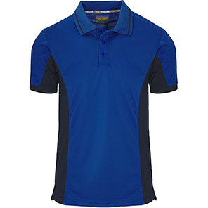Trojan Two-tone Wicking Polo Shirt Primary Base Colour Blue Secondary Base Colour Navy