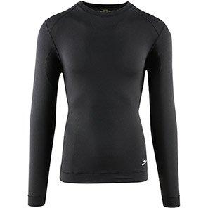 TROJAN Black Long-Sleeve Thermal Vest