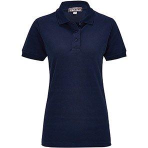 TROJAN Women's Navy Polo Shirt