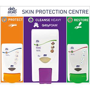 Deb Skin Centre Protect/Gritty Foam/Restore Dispenser Board