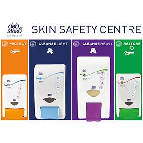 Deb Skin Centre Protect/Cleanse/Gritty Foam/Restore Dispenser Board
