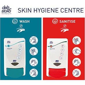 Deb Stoko Skin Hygiene Centre Wash/Sanitise Dispenser Board