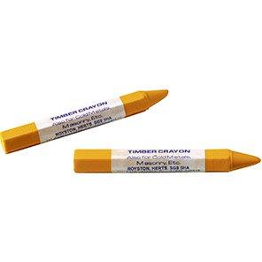Walters Yellow Timber & Metal Crayons (Box of 12)