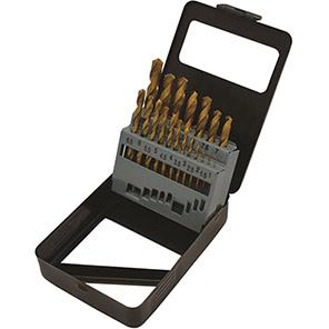Hilka 19-Piece Titanium-Coated HSS Drill Bit Set