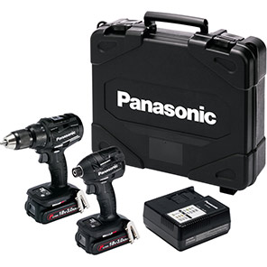 Panasonic 3.0Ah Brushless Combi-Drill and Impact Driver Pack