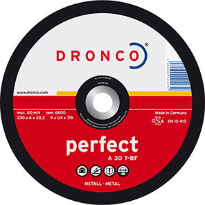 DRONCO Perfect A 30 T Metal Grinding Discs (Pack of 10)