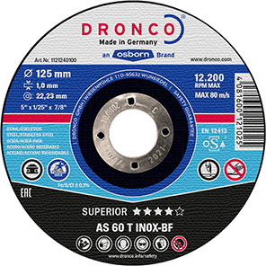 DRONCO Special AS 60 T Inox Metal Cutting Discs (Pack of 25)