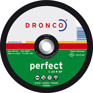 DRONCO Perfect C 24 R Stone Cutting Discs (Pack of 25)