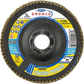 DRONCO Perfect Zircon Power Flap Discs (Pack of 10)