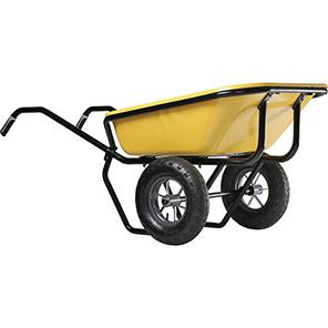 Haemmerlin Green 150L Pneumatic Twin-Wheel Wheelbarrow