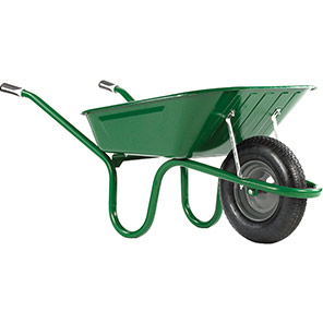 Haemmerlin Original Green 90L Pneumatic Wheelbarrow