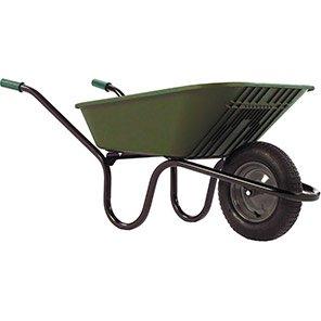 Haemmerlin Poly Green 90L Pneumatic Wheelbarrow