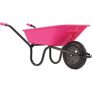 Haemmerlin Poly Pink 90L Pneumatic Wheelbarrow