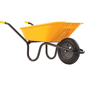 Haemmerlin Poly Yellow 90L Pneumatic Wheelbarrow