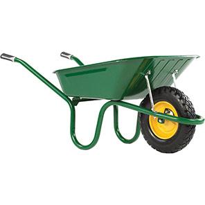 Haemmerlin Original Green 90L Puncture-Resistant Wheelbarrow