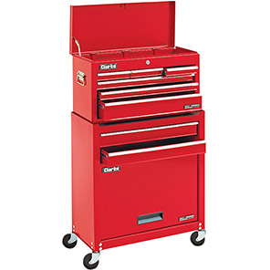 Clarke Red Eight-Drawer Tool Chest and Cabinet