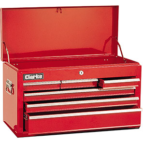 Clarke Red Six-Drawer Tool Chest