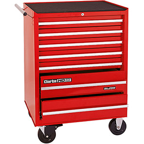 Clarke HD Plus Red Seven-Drawer Mobile Tool Chest