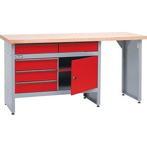 Clarke Long Five-Drawer Workbench