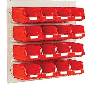 Bott Red Mini Louvre Panel and Storage Bin Kit