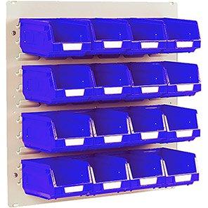 Bott Blue Mini Louvre Panel and Storage Bin Kit
