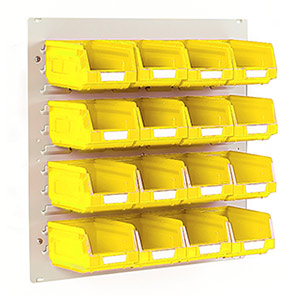 Bott Yellow Mini Louvre Panel and Storage Bin Kit