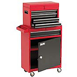 Clarke Red Five-Drawer Tool Chest and Cabinet