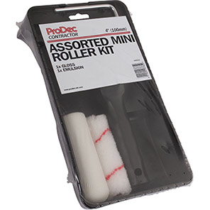 ProDec Assorted Contractor Mini Paint Rollers Kit