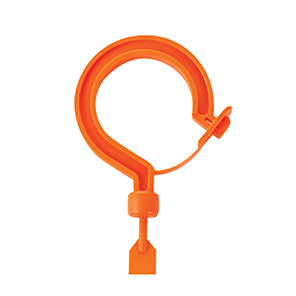 Ergodyne Squids Orange Locking Tie Hook