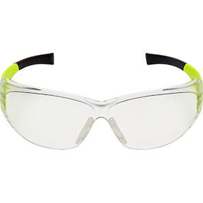 Arco Kool Hi-Vis Yellow Safety Glasses with Clear Lenses