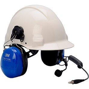 3M PELTOR Twin-Cup ATEX Helmet-Mounted Two-Way Ear Defenders