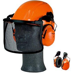 3M PELTOR H31 Orange Helmet-Mounted Ear Defenders (Pack of 20)