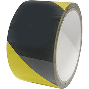 Black/Yellow Self-Adhesive Hazard Warning Tape